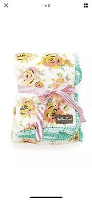 NWT Matilda Jane New Arrival Floral Baby Blanket 34x40 Super Soft New