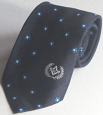 Naval Masonic Regalia  Masons forget me not Tie with Square Compass & G Logo
