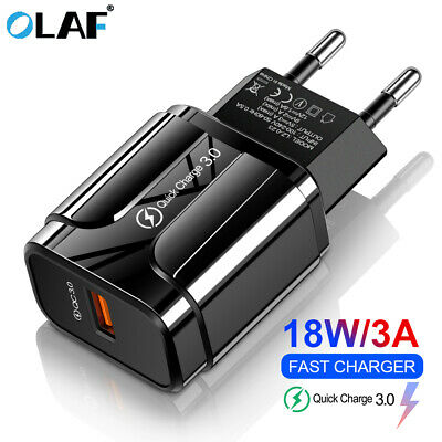 5V 3A USB Port QC 3.0 Fast Quick Charge EU US Plug Travel Wall Charger Adapter