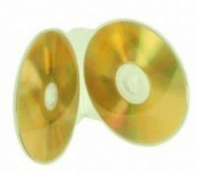 100 Clear Double ClamShell CD/DVD Case Budget