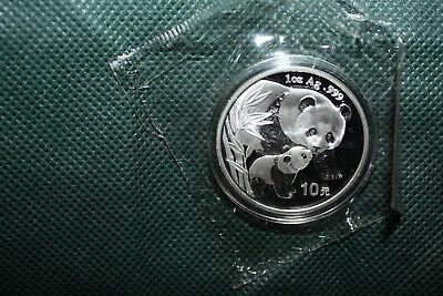2004 1 oz .999 solid silver Silver Chinese Panda - (Sealed) medallion