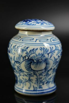 Chinese Blue and white porcelain hand painted 囍&flower pot/jar