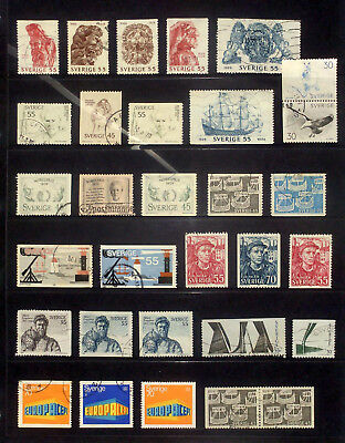 Selection of used stamps from Sweden 1969