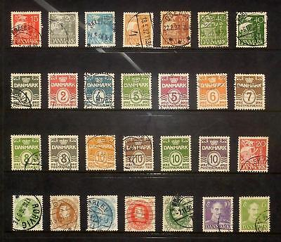 Selection of used stamps from Sweden 1927-40