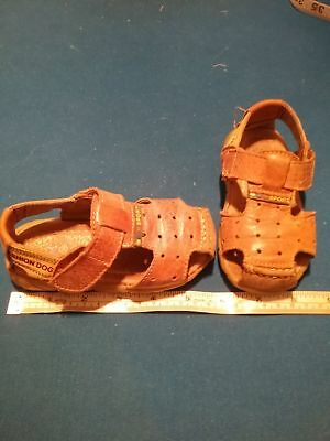 """XOT Fashion Dog"" Leather Toddlers Sandles - Size 23"