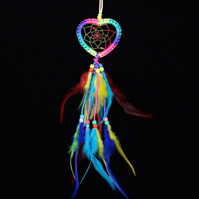 Dream Catcher with Feathers Heart Shaped Wall Room Hanging Decoration Ornament