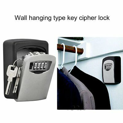 Wall Mount Key Storage with 4 Digit Combination Password for Home Security ZY