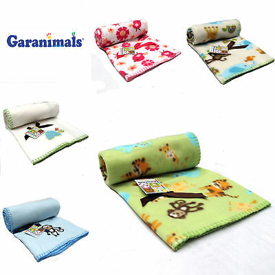 CUTE Polar Fleece Boys Girls Nursery Baby Blanket Throw Rug Cot Bassinet Pram