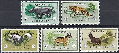 Ethiopia: Air Post Stamps: 1966: C102 - C106, Animals of Ethiopia,  MNH