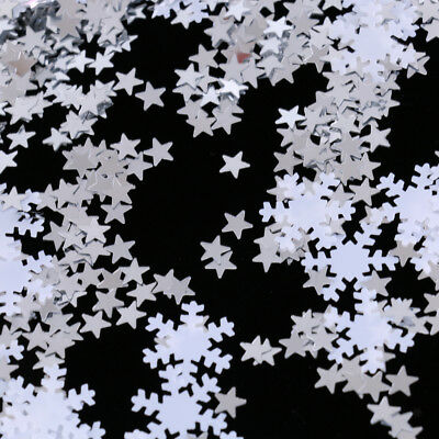 15g White Snowflake Stars Table Confetti Christmas Party Scrapbooking Crafts