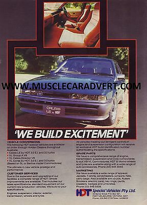 Holden Vl Hdt Commodore A3 Poster Advert 5.0Lt 308 304 Gm Ads Sale Brochure