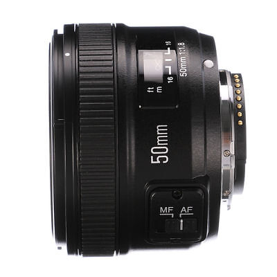 Yongnuo YN 50mm F/1.8 Large Aperture MF AF Auto Focus Prime Lens For Nikon DSLR