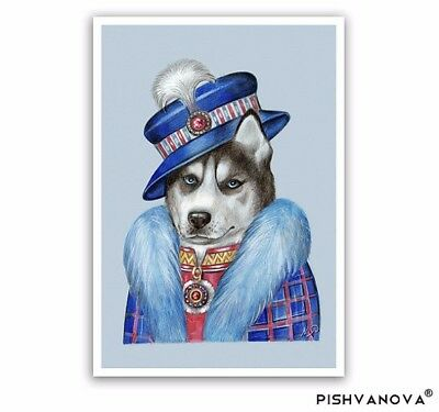 Siberian Husky Art Print - Lady from the North - Dog Gifts, Prints Pet Portraits