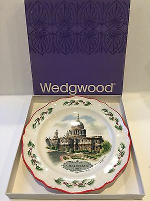 Wedgwood Q Christmas 1983 Plate Nm1026 Brand New In Box Made In England