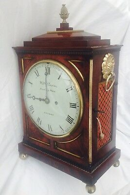 Double Fusee Repeating English Regency Mantel Clock