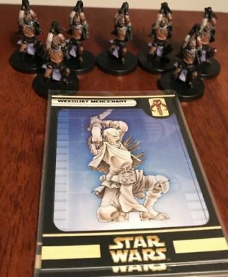 HUGE Lot of 7 Weequay Mercenary Star Wars Miniatures 58/60 Games Piece with Card