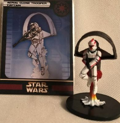Star Wars Miniatures Clone Strike Aerial Clone Trooper Captain 2/60 With Card