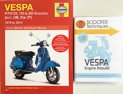 Vespa P/PX/T5  LML Star 125, 150 & 200 with The Vespa Engine Rebuild DVD