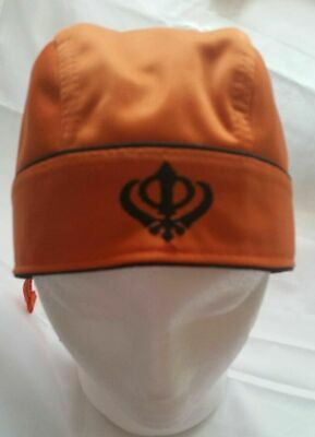 Sikh Punjabi turban patka pathka Khanda bandana Head Wrap Orange Colour Singh