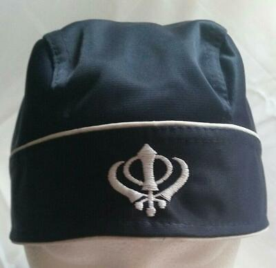 Sikh Punjabi turban patka pathka Khanda bandana Head Wrap Blue Colour Singh