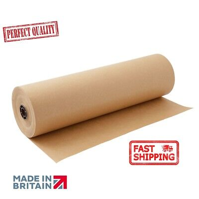 25m  x 750mm STRONG BROWN KRAFT WRAPPING PAPER roll Thick quality packaging