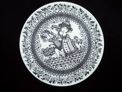 LARGE c1970 NYMOLLE DENMARK CHARGER PLATE SUMMER BY BJORN WIINBLAD