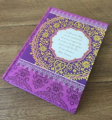 Intrinsic Blank Journal Adele Basheer Mandala Purple Mindful Gratitude New Gift