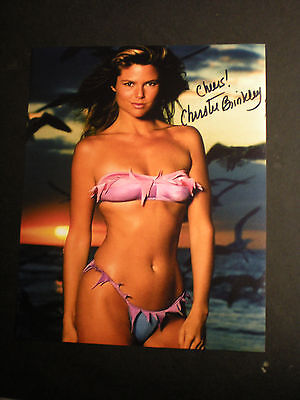 "Signed Beautiful & Sexy Photo Supermodel Christie Brinkley-""covergirl""  Coa"