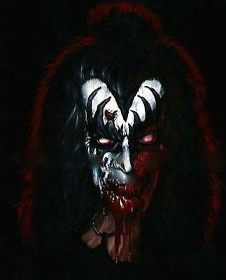 """Kiss-Gene Simmons """"The Demon"""" Zombie Caricature Sticker or Magnet"""