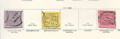 India/BAMRA stamps 1890 Collection of 3 CLASSIC stamps HIGH VALUE!