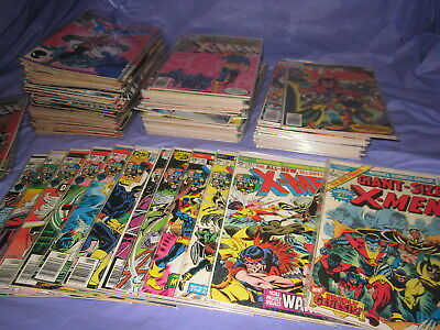 Uncanny X-Men Lot 145 Issues Giant Size #1, 95 thru 117, 119 & up