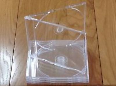 Maxi Single CD Jewel Case 6mm Slim Clear Tray New Replacement J CARD Type HQ AAA