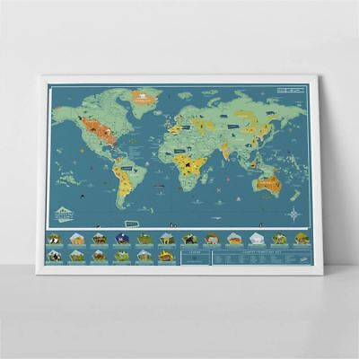 Scratch Off Map Wild World Animal Wall Poster Large Wildlife Wallpaper Luckies