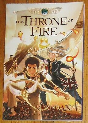 THE THRONE OF FIRE : graphic novel : by Rick Riordan : Kane