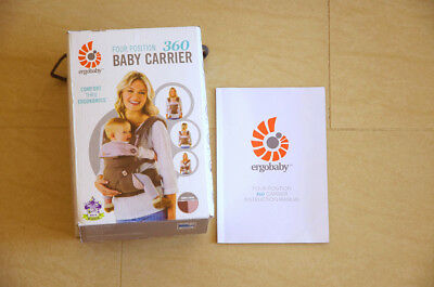 Ergo Baby Carrier Four Position 360 Ergobaby TAUPE and LILAC color. Brand New.