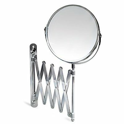 Wall Extending Mirror Mounted Double Sided True Image 3X Magnification Easy Fit