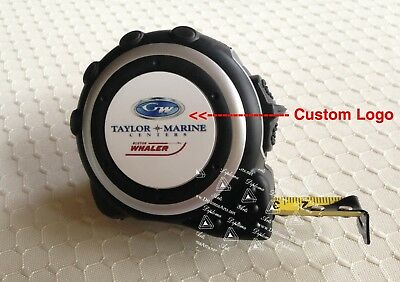 """16-Foot Black & Silver Tape Measure with 1 1/2"""" Insert Area w/ Personalization"""
