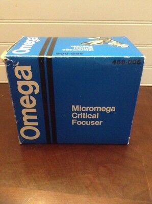 Omega Mircomega Critical Focuser 468-006 100% Complete In Box