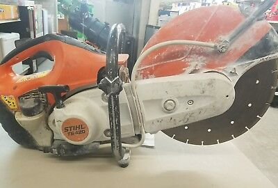 """STIHL TS420  14"""" CONCRETE CUT-OFF SAW With Water Hook Up *No Reserve*"""