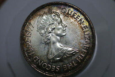 Mauritius 25 Rupees 1977 Silver Toned A75 Ggg46