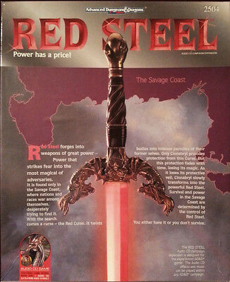 RED STEEL | Boxed Set | AD&D 2nd Edition | TSR 2504 | Gebraucht