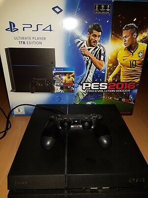 Sony PlayStation 4 1TB schwarz mit Controller und OVP Ultimate Player Edition