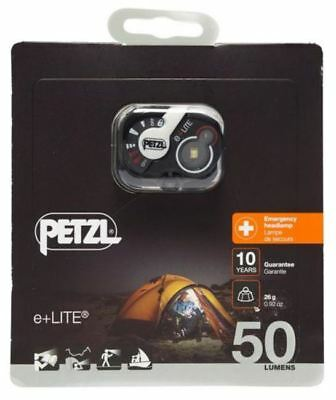 Petzl E-Lite Improved Version of Head Torch - 50 Lumens + Waterproof Carry Case