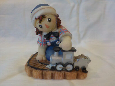 """Enesco Raggedy Ann and Andy Figurine - """"All Aboard The Friendship Express"""""""