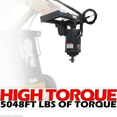 Skid Steer Auger 4000PSI Extreme Duty,Gear Drive,McMillen X4075 Hex,Fits ALL