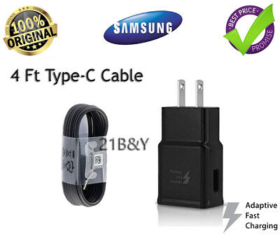 OEM _ Samsung_Galaxy S8-S8 +Note 8_Fast Charger Dual Car &Wall Plug Type-C Cable