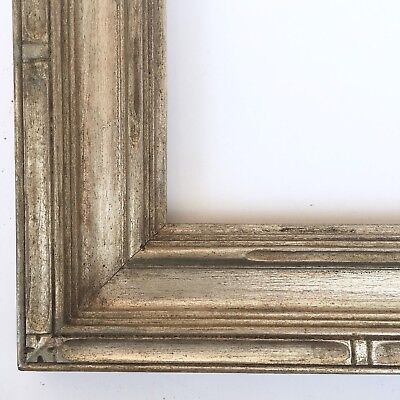Antique Newcomb Macklin Style Silver Gilt Carved Frame Large 27 X 14
