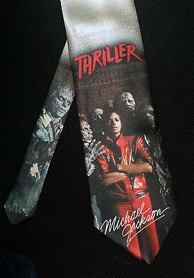 L@@K! Michael Jackson - Thriller - fan art Neck tie