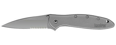 Kershaw Ken Onion Leek Pocket Knife w/Speed Safe (Stainless Steel)