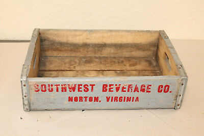 Norton Va Southwest Beverage Soda Crate Vintage Wooden Caddy Carrier Advertising